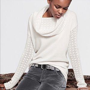 NWT Garnet Hill 100% Cashmere Cowl Neck Sweater-XL
